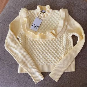NWT ZARA CABLE KNIT TOP